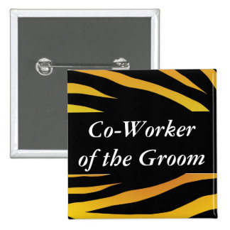 Grooms Co Worker Buttons
