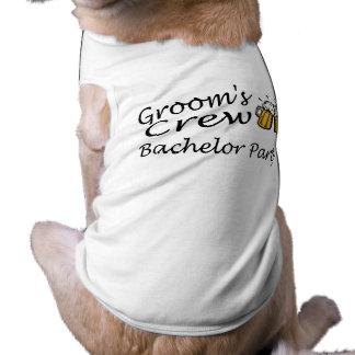 Grooms Crew (Bachelor Party) Sleeveless Dog Shirt