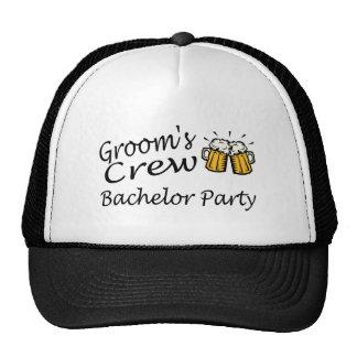 Grooms Crew Beer Jugs Mesh Hats
