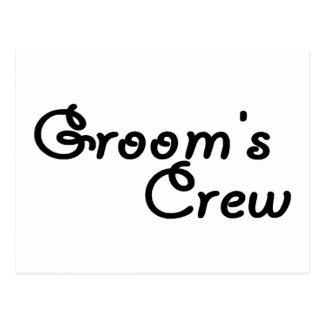 Grooms Crew Postcard