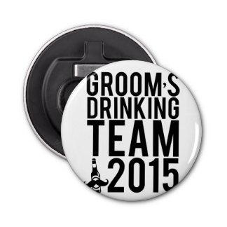 Groom's drinking team 2015 bottle opener