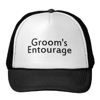 Grooms Entourage Black Mesh Hat