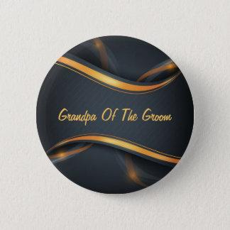 Groom's Grandpa (b/g) Customizable 6 Cm Round Badge