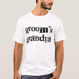 Groom's Grandpa Black Text T-Shirt