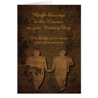 Grooms Lit by Love Gay Wedding Card
