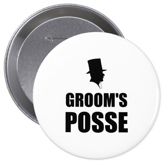 Grooms Posse 10 Cm Round Badge