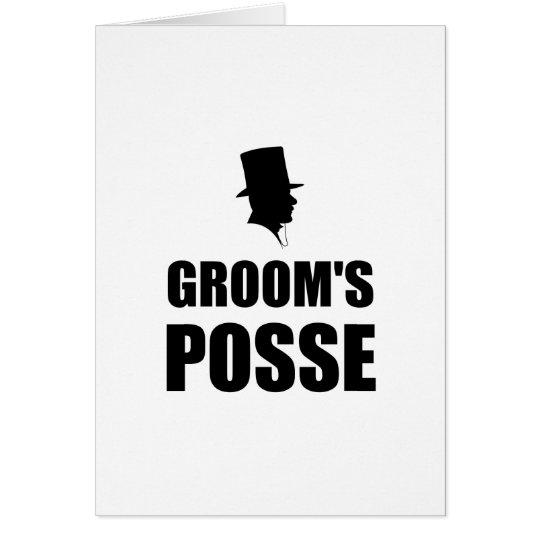 Grooms Posse Card