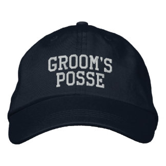 Groom's Posse Embroidered Ball Cap