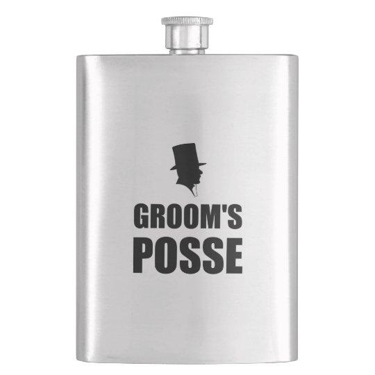 Grooms Posse Hip Flask