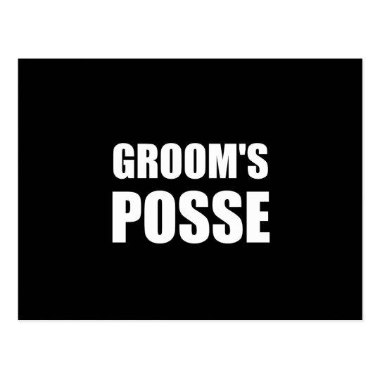 Grooms Posse Postcard