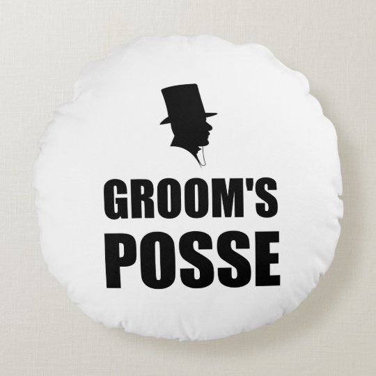 Grooms Posse Round Cushion