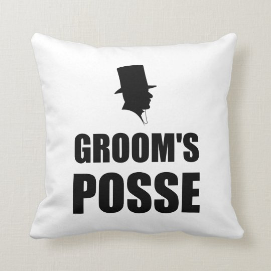 Grooms Posse Throw Pillow