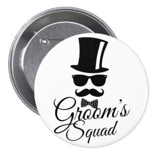 Groom's squad 7.5 cm round badge