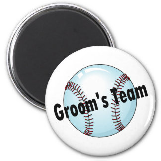 Groom's Team (Baseball) 6 Cm Round Magnet