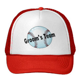 Grooms Team Baseball Trucker Hats