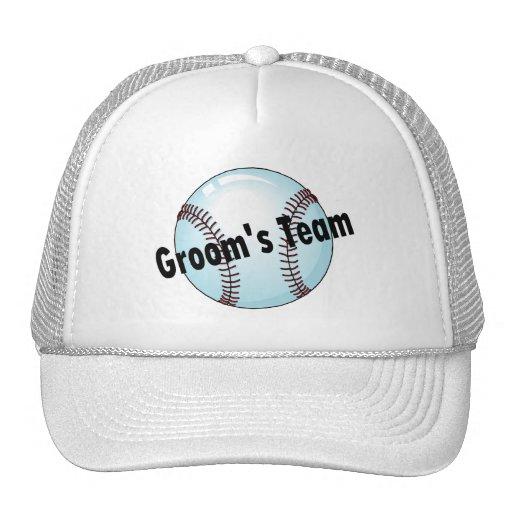 Grooms Team Baseball Hats