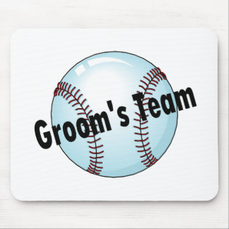 Groom's Team (Baseball) Mouse Pad