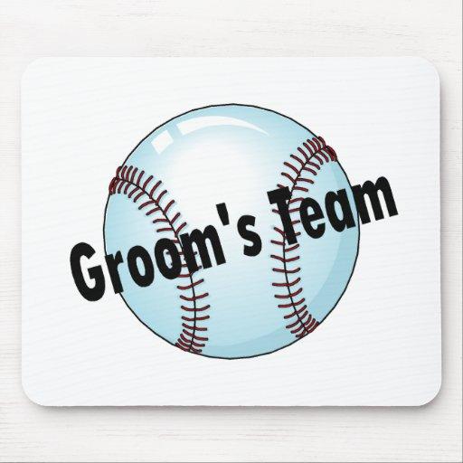 Groom's Team (Baseball) Mouse Mats
