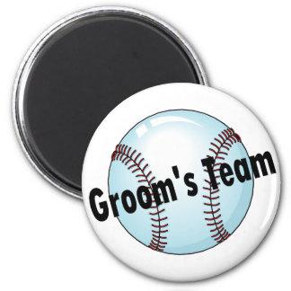 Groom's Team 6 Cm Round Magnet