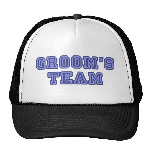 Groom's Team - University Text Trucker Hats