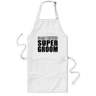 Grooms Weddings Parties : Certified Super Groom Long Apron