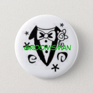 Groomsman 6 Cm Round Badge