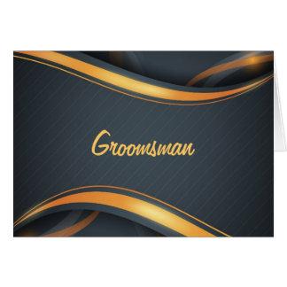 Groomsman (blk/gd) card