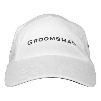Groomsman Customisable White Sports Hat