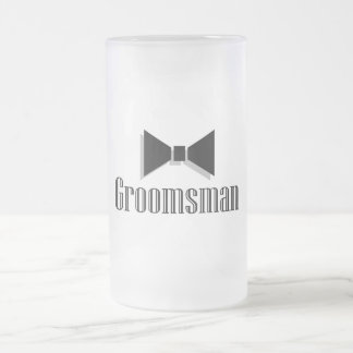 Groomsman Frosted Glass Beer Mug