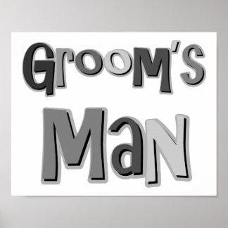 Groomsman Gray Poster