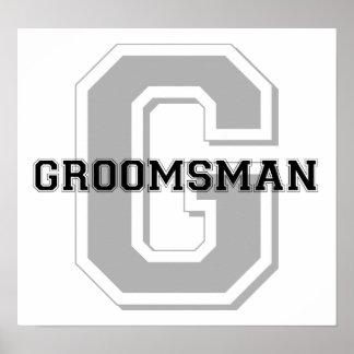 Groomsman Groom Cheer Print
