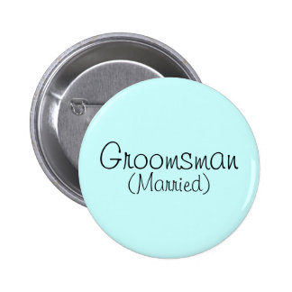 Groomsman Married Pin