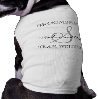 GROOMSMAN Monogram Dog Shirt