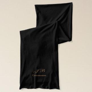 Groomsman Monogram Knit Scarf