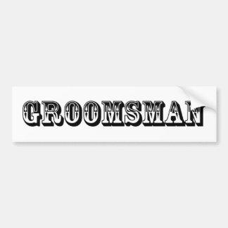 Groomsman - Old West Bumper Sticker