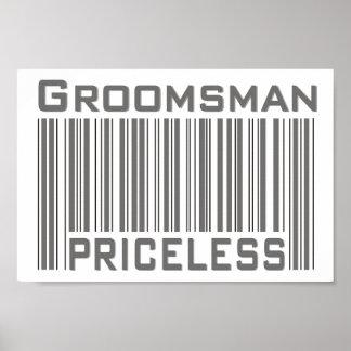 Groomsman Priceless Poster