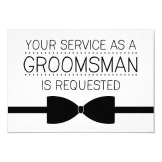 Groomsman Request   Groomsmen 9 Cm X 13 Cm Invitation Card
