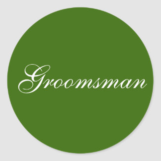 """Groomsman"" stickers"