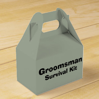 """Groomsman"" Survival Kit Box Favour Boxes"