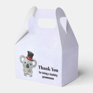 Groomsman Thank You with Koala Pun Favour Box