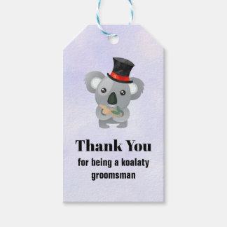 Groomsman Thank You with Koala Pun Gift Tags