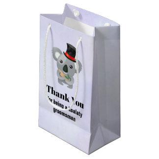 Groomsman Thank You with Koala Pun Small Gift Bag