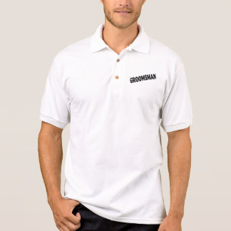 Groomsman Wedding Black Polo Shirt