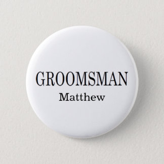 Groomsman Wedding Button