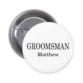 Groomsman Wedding Button