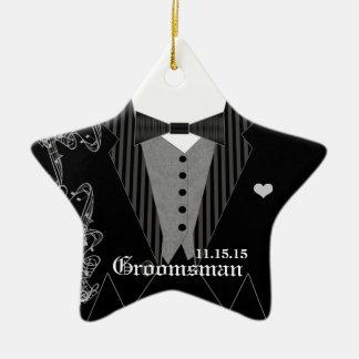 Groomsman Wedding Christmas Favor Ornament