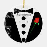 Groomsman Wedding Christmas Ornament