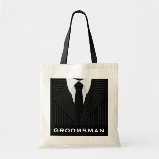 Groomsman Wedding Party Attendant Budget Tote Bag
