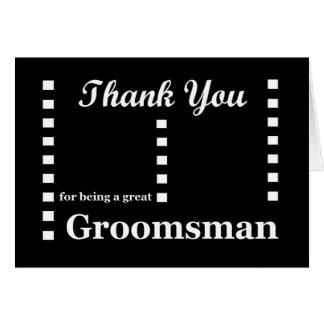 GROOMSMAN Wedding Thank You - Zipper Checks Card
