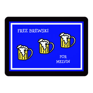 Groomsmen Blue with Brewski Card